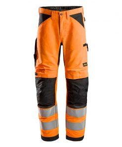 Snickers 6332 LiteWork High Vis Work Werkbroek+ Klasse 2-5504