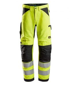 Snickers 6332LiteWork High Vis Work Werkbroek+ Klasse-2-6604