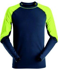 Snickers t-shirt lange mouwen 2405 navy-neon yellow