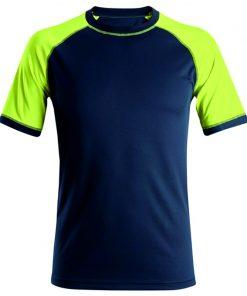 Snickers neon t-shirt 2405 navy-neon yellow