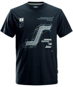Snickers t-shirt 2522 steelgrey